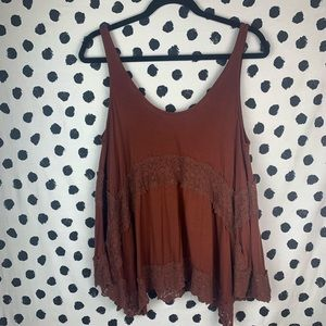 American Eagle Soft & Sexy Lace Swing Tank Top